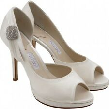 Ivory Satin Wedding shoes Size 5 'TESI' By Rainbow Couture