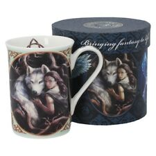 STUNNING NEW ~ SOUL BOND ~ ANNE STOKES ~ NEMESIS NOW ~ WOLF CHINA MUG CUP BOXED