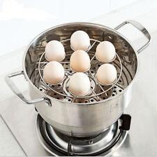 New Arrival 7 Hole Stainless Steel Egg Holder Egg Steaming Rack Kitchen Tool