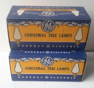 Lot RED Vintage 1950s General Electric Christmas Tree 110-125 Volt Bulbs C-6