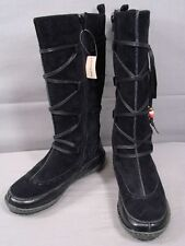 BNWT HUSH PUPPIES BLACK SUEDE LEATHER LADIES BOOTS SIZE UK 3/USA 5/EUROPEAN 36
