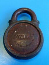 Old Vtg Collectible Yale & Towne Co. 326 Round Padlock Lock Made In USA