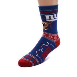New York Giants NFL Holiday Socks Size Large (Men's 10-13) - NWT