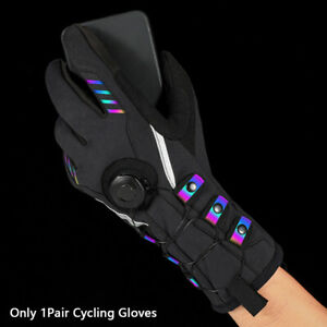 1pair Men Women With Reflective Strip Cycling Gloves Hand Warmer Windproof Daily