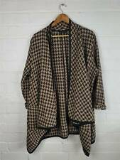 Collection London Gold / Black Hounds Tooth Cape / Coat Size UK 18
