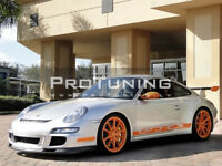 For Porsche 997 Front Bumper with GT3 Style Chin Lip Valance Spoiler