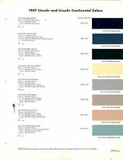 1947 1948 LINCOLN CONTINENTAL COSMOPOLITAN LIDO SPORT 47 48 PAINT CHIPS DUPONT 3