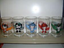 2008 BEIJING OLYMPICS MCDONALD'S GLASSES COMPLETE SET OF FIVE