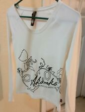 PRE-OWNED AKDMKS L/S  WOMEN'S  T-SHIRT  SIZE S/P WHITE