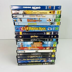 DVD BUNDLE Childrens Family Movies X18 Antz Fraggle Rock Labyrinth Harry Potter