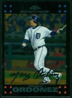 Original Autograph of Magglio Ordonez of the Tigers on a 2007 Topps Chrome Card