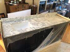 Carerra marble vanity top 72x22
