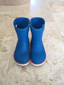 Crocs Croc Crocband Rain Wellies Wellington Boots C 8 Blue
