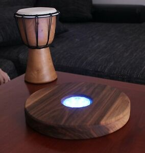 Wooden pedestal for a hookah Hand made from Walnut (circle)