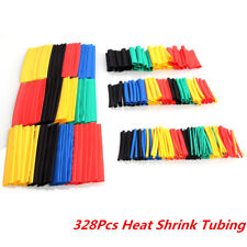 328 Pcs 2:1 Car Wire End Heat Shrink Tubing Tube Sleeve Wrap Wire Set 8 Size Kit