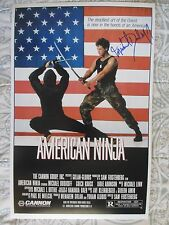 MICHAEL DUDIKOFF SIGNED 11x17 PHOTO DC/COA (AMERICAN NINJA) PROOF (RARE)