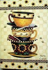Debbie Mumm Amcal Note Cards Time For Tea 10 Cards Boxed Set Envelopes 2 Designs