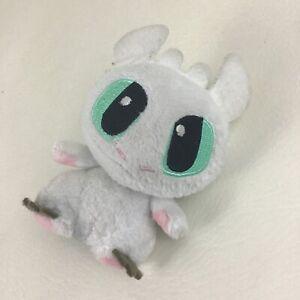 "How To Train Your Dragon Lightfury Mini 4"" Plush Stuffed Animal Toy White Dragon"