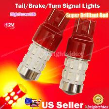 2x 7443 7440 LED Light Bulbs Tail Brake Turn Signal Projector Lens Brilliant Red
