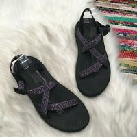 Teva Womens Original Water Sport Universal Sandals US 11 Black Purple Hike 6891