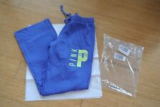 Victoria's Secret PINK Boyfriend pant! BNIP! XS Blue paradise with neon green!
