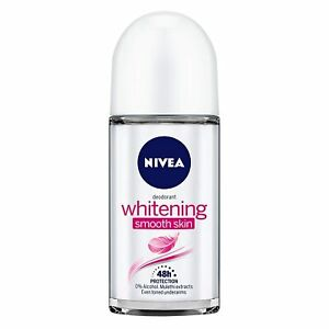 NIVEA Deodorant Roll-on, Whitening Smooth Skin For Even Toned Underarms- 50ML