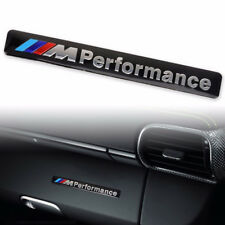 1*3D Aluminum ///M performance Car Emblem Badge Sticker Decals Fit For BMW Black