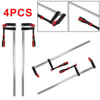 """4 Pc/Set F Clamps Bar Clamp Heavy Duty 300mm x 50mm 12"""" Long Quickly Slide Wood"""