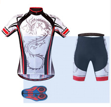 Regular & Big & Tall Men's Cycling Short Sleeve Bicycle Jersey Shirt Shorts Set