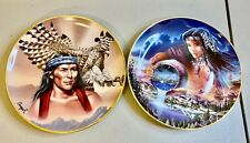 'Spirit of the Great Hawk' & 'The Waters of Life' Franklin Mint Heirloom Plates