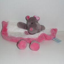 Doudou Hippopotame Babynat Baby Nat' - Blanc Rose