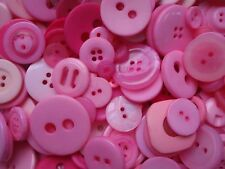 100 Pink Sewing Buttons