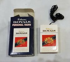 VINTAGE ROTHMANS ROYALS PERSONAL FM RADIO IN BOX COLLECTABLE TOBACCO ADVERTISING