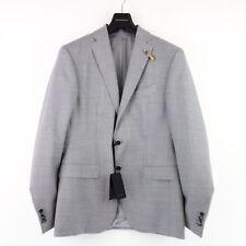 Baldessarini men's suit Richard Tell 48 Grey Virgin Wool Jacket Trousers np 549