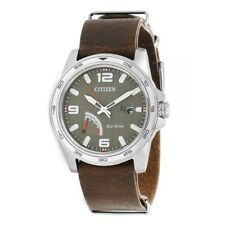 Citizen Eco-Drive Men's Tuape Dial Brown Leather Band 42mm Watch AW7039-01H
