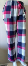 Sleep Lounge Pants size 3X Berry Navy Plaid Cotton Flannel by Sonoma NEW Tag $30