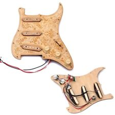 3 Ply Maple Wood SSS Prewired Pickguard 3 Pickups Set for Strat Electric Guitar