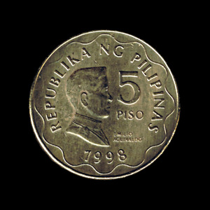 Philippines - 5 Piso - 1998 (Without designer initials), KM# 272