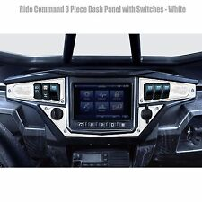 Ride Command Dash Panel Plate w Switches Polaris RZR Trail 900 White Lightning
