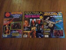 Star Trek Magazine LOT of (3) - Posters, Official Movie Magazines