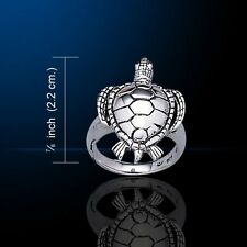 Turtle .925 Sterling Silver Ring by Peter Stone