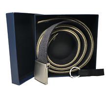 2-in-1 Reversible Web Belts-1 Buckle/3 Belts,-6 Variations w/ Keyfob & Box $9.99
