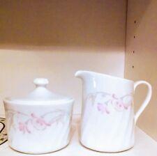 Corelle pink trio creamer sugar dish lid NEW