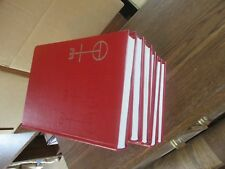 6 SIX HYMN BOOKS RED light used 381 hymns bible readings litanies index & more