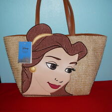 Danielle Nicole Belle Disney Beauty and the Beast Straw Tote Bag $65.-NWT Free/S