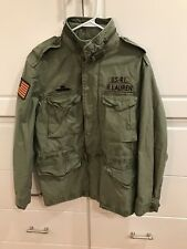 Men's Ralph Lauren Polo USA American Military Field Jacket - Olive Green XL