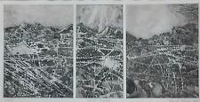 """1965 Etching  by David Glines(American 1931-2014) Titled """"Winter Triptych"""""""