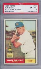 1961 Topps # 35 Ron Santo All Star Rookie HOF Cubs EX MT PSA 6