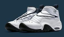 Nike Air Shake Ndestrukt White/Midnight Navy Men's Basketball Shoes Size 10