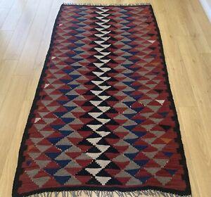 Oriental Handmade Traditional Turkish Wool Kilim Floor Rug Home Decor  195x112